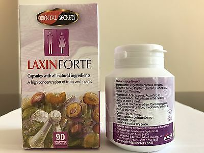 Laxin Forte All Natural Laxative Detox Immediate Constipation Relief 90 Pills