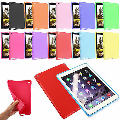 Ultra Slim TPU Silicone Rubber Gel Case Cover For Apple iPad 2/3/4 Air 2 Mini