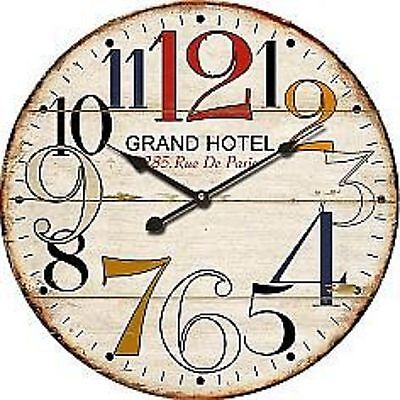 "Extra, Extra Large Retro Shabby Chic Wall Clock. 58cm Diameter (22"" +) 5201"