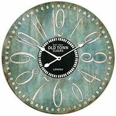 "Extra, Extra Large Retro Shabby Chic Wall Clock. 58cm Diameter (22"" +) 7085"