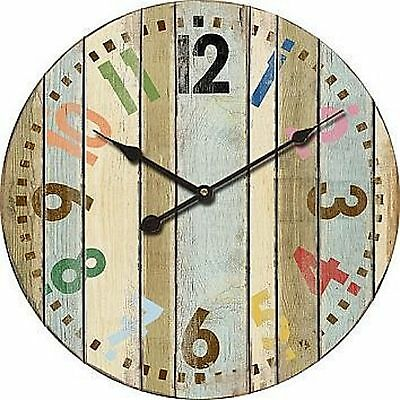 "Extra, Extra Large Retro Shabby Chic Wall Clock. 58cm Diameter (22"" +) 8109"