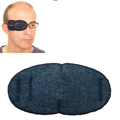 Eye Patch For Glasses LARGE DENIM - Right or Left Eye