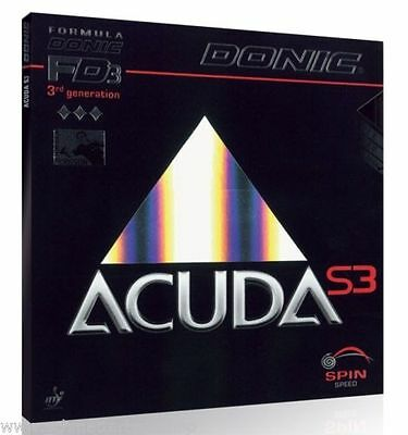 Donic Acuda S3 Black Table Tennis Rubber  ITTF approved from UK stock