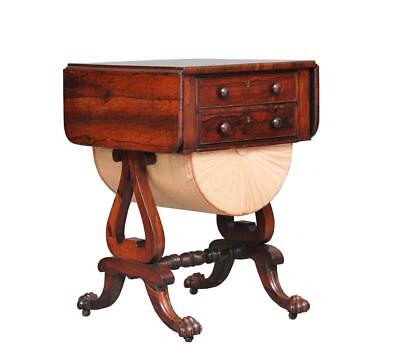 19Th Century Early Victorian Rosewood Work Table