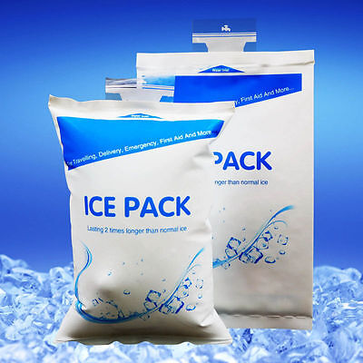 5pcs Reusable Inject Water Cool Ice Gel Pack Bag Cold  Food Storage400ml