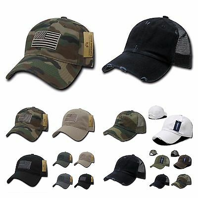 Baseball Cap Vintage US Army Mesh Hat   US Flag Camo Military Tactical Hats c12d6fca3a6