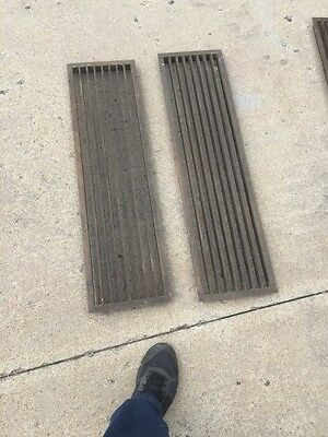 Br 18 Two Available Price Separate Antique Heating Grate 34.625 X 9.5""