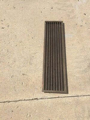"Br 17 Antique Brass Or Bronze Heating Agree Or Cold Air Return 35.5"" X 9.5"""