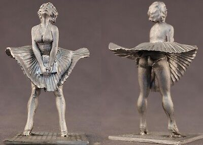 tin toy soldiers unpainted  Pegaso Girl 80mm Marilyn Monroe
