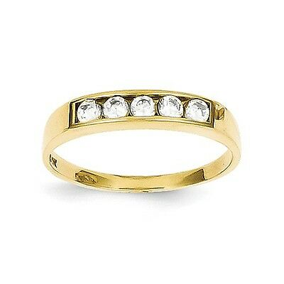 10k Yellow Gold CZ Polished Child's Ring. Metal Wt-0.95g