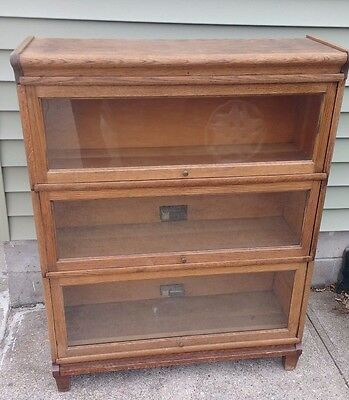 Antique  Viking Barrister Bookcase 5 Sections Top Base No. 930 -