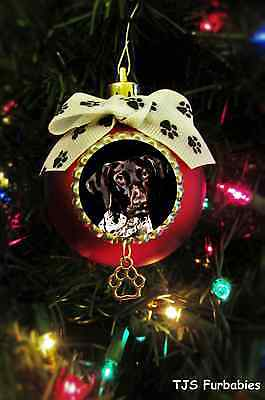 German Shorthaired Pointer Christmas Ball Ornament Dog Lovers Gift TJS Furbabies