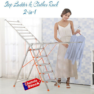 Portable Folding Drying Racks Clothesline Laundry Stand Clothes Hanger Dryer