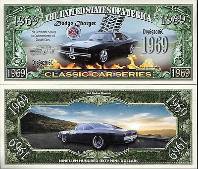 1969 Dodge Charger - Classic Car Series Novelty Money