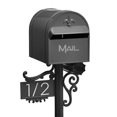 MILKCAN Design CHARCOAL Aussie TOP MOUNT Letterbox Aluminium Box & Post Mailbox