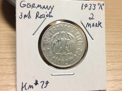 Germany KM #79, 1933A, 2 Reichsmark 'Luther'