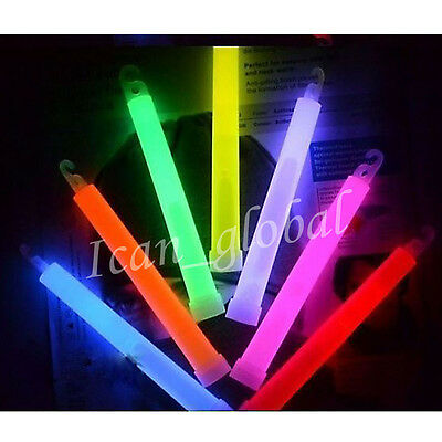 6 Inch Glow Sticks + Lanyard PARTY FAVORS RAVE DISCO Concert  For All Occasions