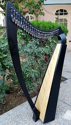 NEW HARP Black  27 Levers STRING Made By Rosewood