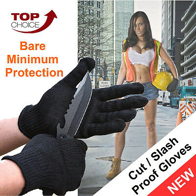 2 x Pairs Stainless Steel Wire Safety Gloves Anti-Slash Resistance Cut Proof