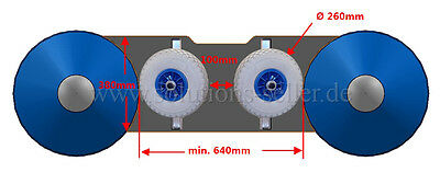 Launching wheels for Inflatable boats. Foldable transom wheels. Made in Germany
