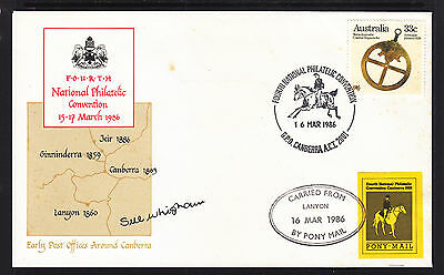 1986 4Th National Philatelic Convention Cover Signed And Cinder Tied To Cover.