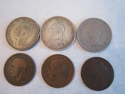 11 Old British Coins - 1885 - 1962 - & Hong Kong See Descriptions - Ofc-Rc-Lot14