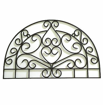 Metal Half Moon Archectural Accent Grill wall Decor