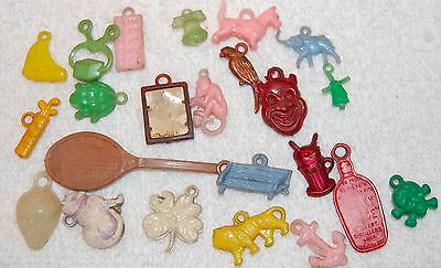 Vintage Cracker Jack ~ Gumball Charm Prize Toy Lot 23 pieces