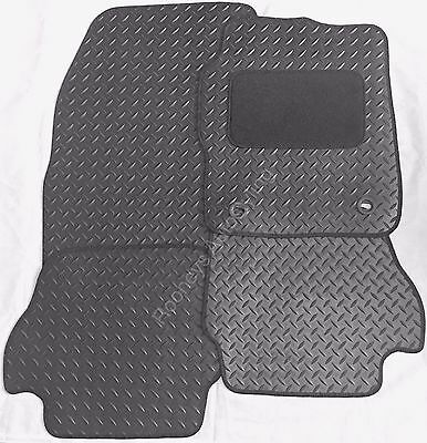 Toyota Yaris 2011 Onwards New Black Tailored Heavy Duty Rubber Car Floor Mats