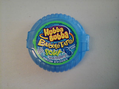 3 packs of Hubba Bubba bubble tape - sour blue raspberry