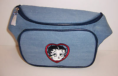 Light Blue Sparkle DENIM BETTY BOOP BELLY Waist BAG FANNY PACK Purse Tote NEW!!