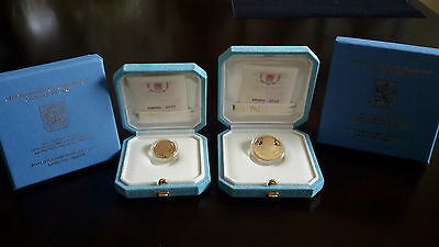 Vatican 20 + 50 euro Gold Proof Coins 2012 Pope Benedict XVI set of 2 coins NEW