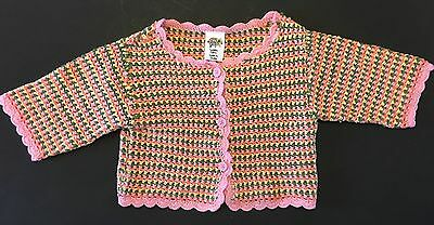 Nwt Baby Gap Toddler Girls 3T 3 Years Cardigan Sweater Cropped Multi Colored