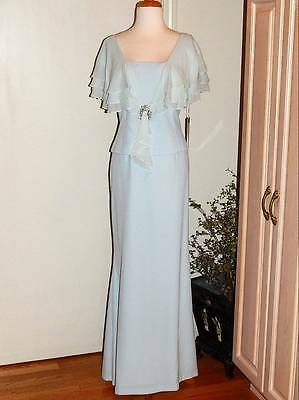 NWT Sz 16 Daymor Couture Lt Blue Embellished 1 Pc Gown Long Dress MOB