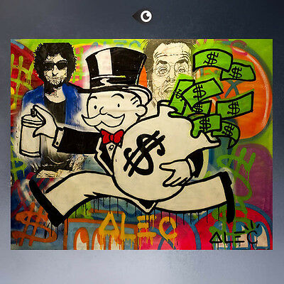 """""""Alec monopoly"""" Hand-painted Portrait oil painting on canvas 24x36 #07 Unframed"""