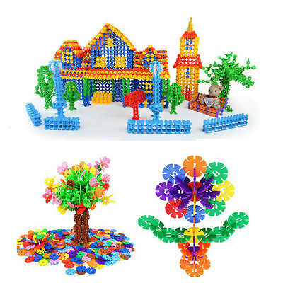 400Pcs Plastic Snowflake Building Blocks Pre-Educational Puzzle Toy Over 3 years