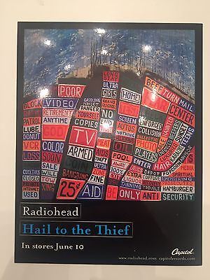 Radiohead Hail To The Thief Sticker With Cutouts