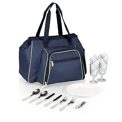 Picnic Time 401-42-138-000-0 Toluca Insulated Cooler Tote, Navy Lunch Boxes CXX