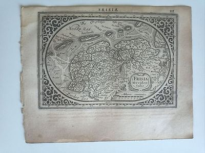 1634 Mercator Hondius Mapa Frisia Occidentalis Friesland Frisia Ostfriesland Map