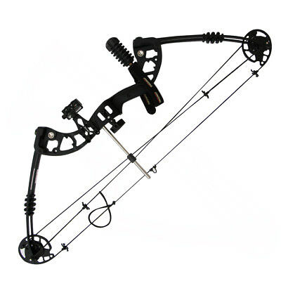 "Archery 30-60Lbs Black Compound Bow Adult Right Hand Target Hunting 24-29"" draw"