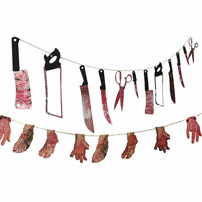 Spooky Halloween Party Haunted House Hanging Garland Pennant Banner Decoration K