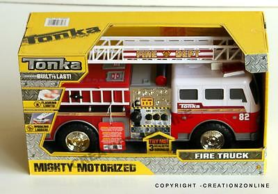 Tonka Fire Engine Rescue White Cabin Mighty Motorized 2016 Hasbro New Truck 911