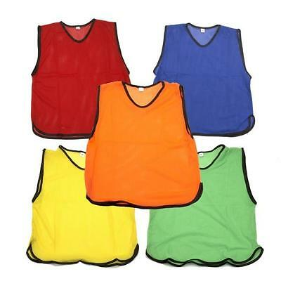 Football Bibs Training Kit Sports Adult One Size Premier League Euro NO TAPE