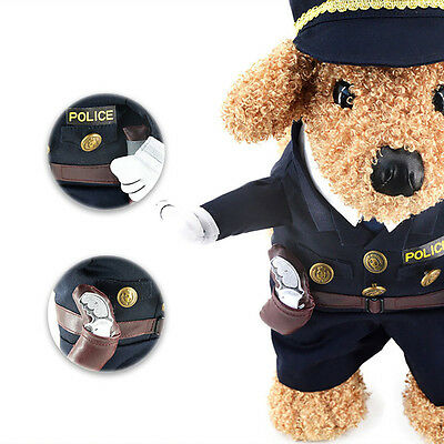 Cat Small Dog Clothes Pet Supplies Cowboy Policeman Cosplay Costume Apparel Suit