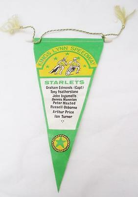 KINGS LYNN SPEEDWAY STARLETS SPEEDWAY  Pennant  Speedway  1970's