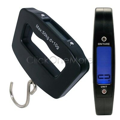 50KG Portable Digital Handheld Travel Suitcase Luggage Weighing Scales AU