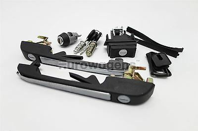 VW Golf MK1 MK2 Black Complete Set of Door Locks Handle 3 Door