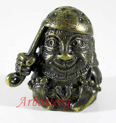 "Bronze Russian Thimble IronWork Miniature beautifully ""Brownie"" Domovoy #34"