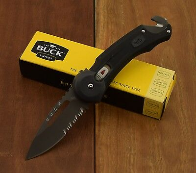 Buck Knives Redpoint Rescue Knife 420HC Stainless Steel Pocket  0753BKX-B