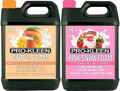 Pro- Kleen Car Snow Foam Wash Wax Shampoo Shine Lance Polish Car Care Bodywork